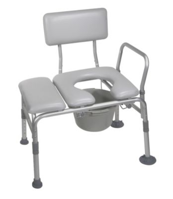 Knock-Down Combination Transfer Bench/Commode