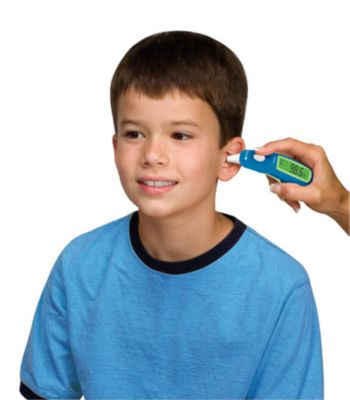 Kid with Ear Thermometer