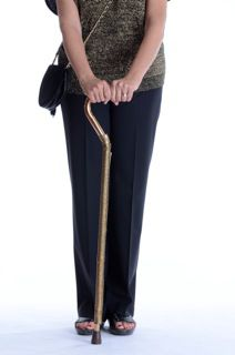 Woman Showing Off Cane