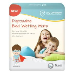 Dry Defender Disposable Bedwetting Mats - Pack of 12 - Extra Large main image