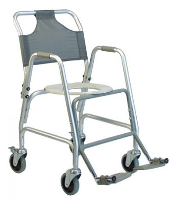 GF Deluxe Shower Transport Chair with Footrests