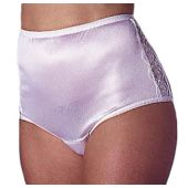 Reusable Female Nylon and Lace Incontinence Panty