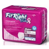 Medline Fit Right Pink Protective Underwear