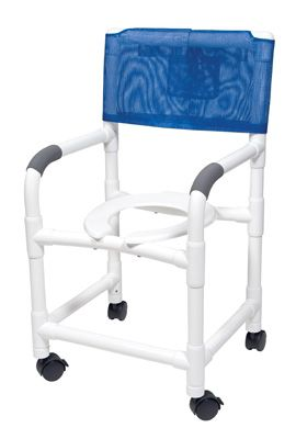 PVC Shower Chair Commode