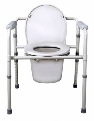 Medline Folding Steel Commode