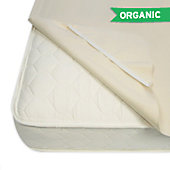 NaturePedic Organic Waterproof Mattress Pad, Anchor Band Style