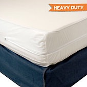 Heavy Duty Vinyl Mattress Protector - Zippered